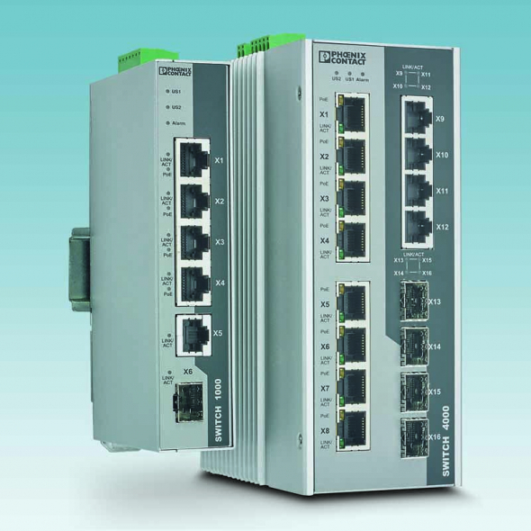The 1000 series unmanaged PoE switches offer a wide temperature range