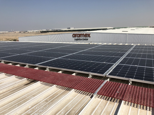 The solar photovoltaic plant will provide 60% of the power needed to run Aramex logistics facility in Dubai Logistics City for a year.