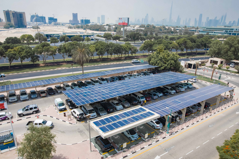 The Solar Carport project is part of DEWA's efforts to encourage the public to benefit from the Shams Dubai initiative