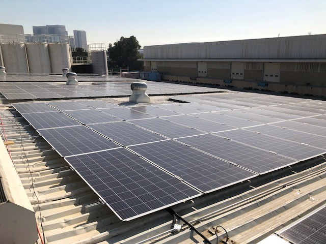 DLPP consumes 156,700 kwh/year of electricity, which will now be fully produced on-site through the solar panels