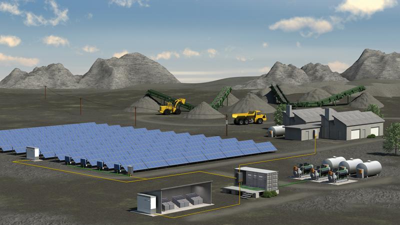 Solar-diesel hybrid