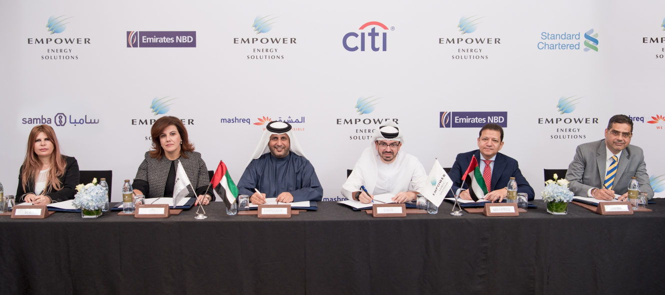 Empower, Syndicated loan, Ahmad Bin Shafar, District cooling, Citibank, Emirates nbd