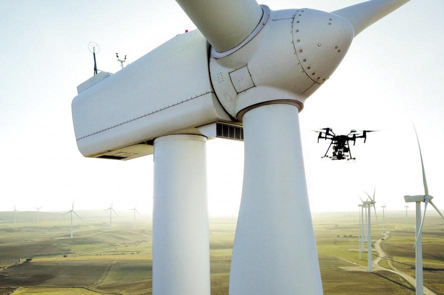 Drones, Wind turbines, Sulzer, Christof Schmid, Sulzer Schmid