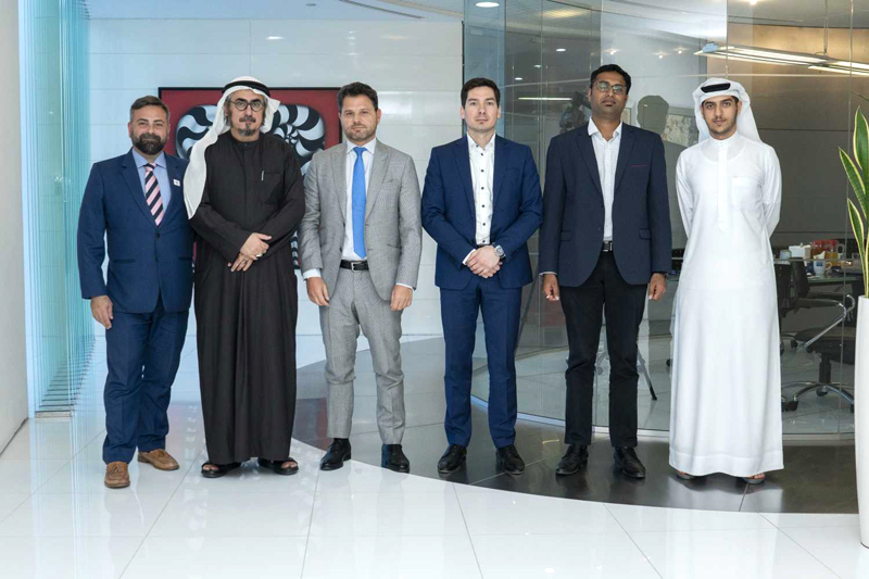 Experts from Dubai Carbon, ENOC, ABB and Etihad ESCO at the ITP Media Office in Dubai Media City after the first Utilities Middle East roundtable on solar rooftop