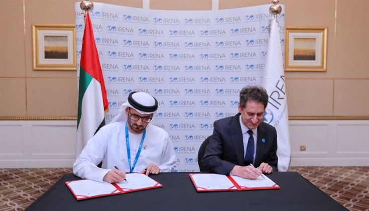 The Memorandum of Understanding (MoU) was signed by His Excellency Hussain Ibrahim Al Hammadi, the U.A.E. Minister of Education and Mr. Francesco La Camera, Director-General of IRENA at the 17th IRENA Council in Abu Dhabi