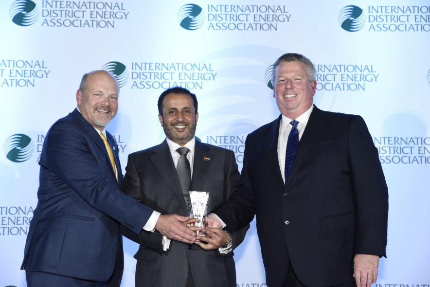Ahmad Bin Shafar, CEO, Empower (Center), receives an award on behalf of Empower at the 110th International District Energy Association (IDEA) Annual Conference & Tradeshow 2019, which was held in Pittsburgh, USA, last June