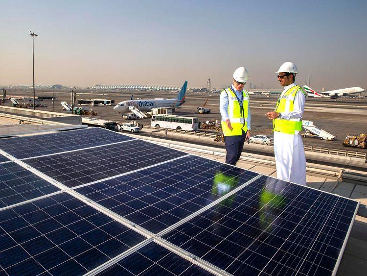 Dubai airport, Solar, Etihad Esco, Michael Ibbitson, Ali al jassim