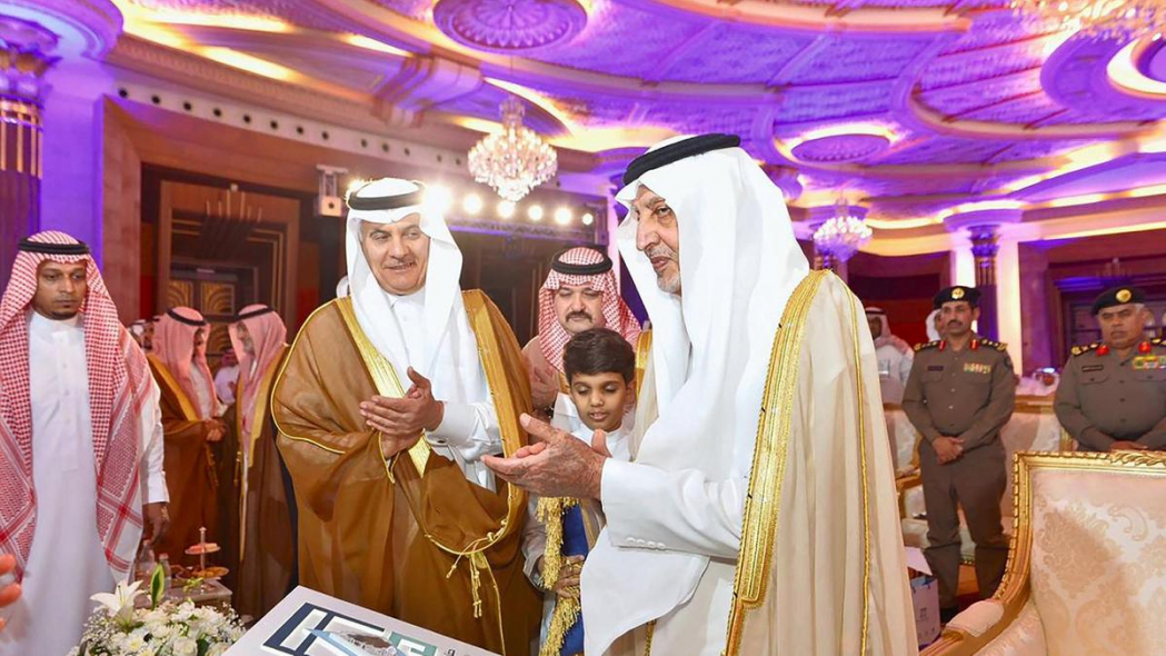 Prince Khaled Al-Faisal, emir of Makkah Province, advisor to the Custodian of the Two Holy Mosques and chairman of the Central Haj Committee, inaugurates the water projects