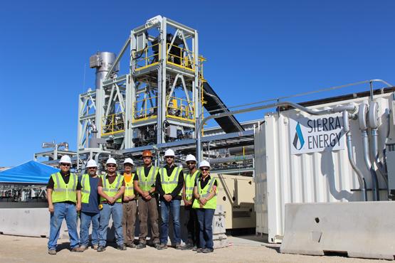 Sierra Energy, Trash, Vaporisation