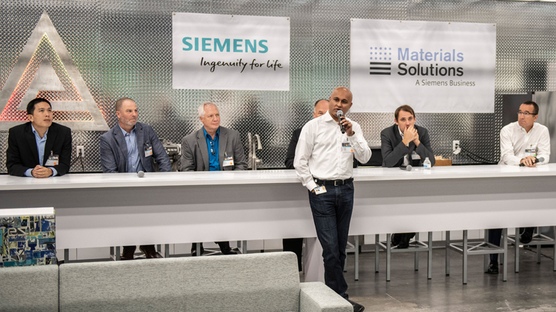 Vinod Philip, CEO Service Power Generation for Siemens Gas & Power, officially opens the Siemens Innovation Center in Orlando, Florida