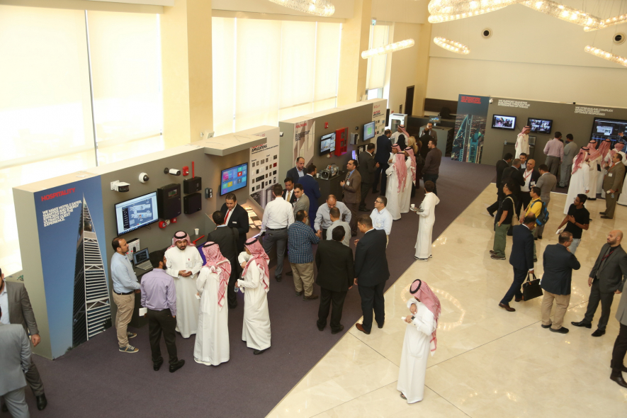 Attendees given a guided tour of Honeywell's interactive Smart City technologies on display