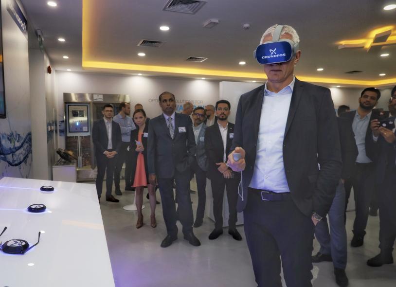 Grundfos Global CEO Mads Nipper Innagurates New iFoss Studio