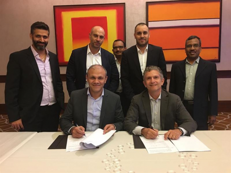 Tony Hanna, General Manager, BUTEC and Pierpaolo Mazza, Regional Director, Wärtsilä Energy Business, signed the order for a 29 MW power plant to Umm Qasr Ports Authority Zone in Basra, Iraq in 2018