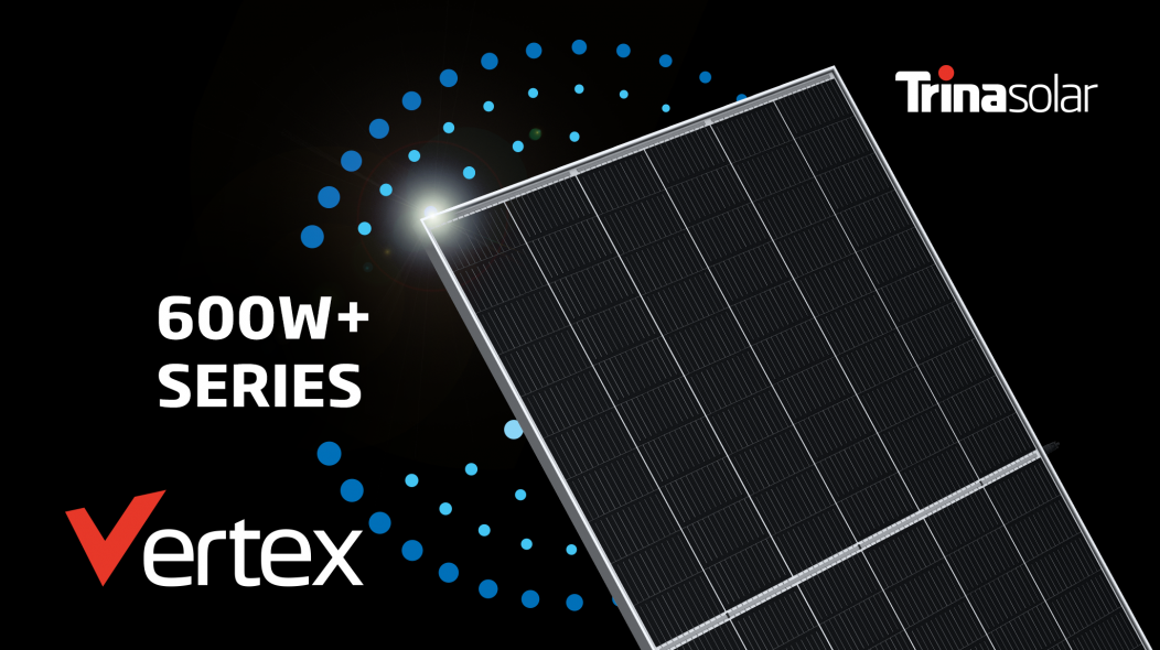 Trina Solar recently unveiled a next-generation Vertex series that can generate as much as 600W
