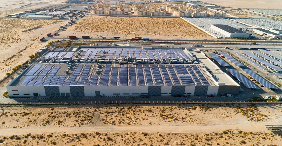 Yellow door energy, Solar carport, Al nabooda